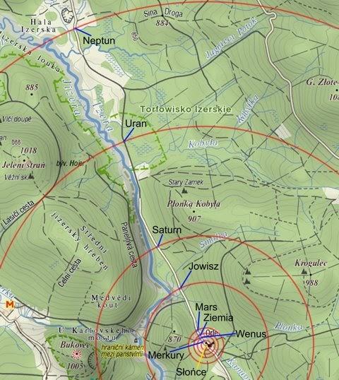 Mapa ścieżki dydaktycznej w pierwotnej wersji