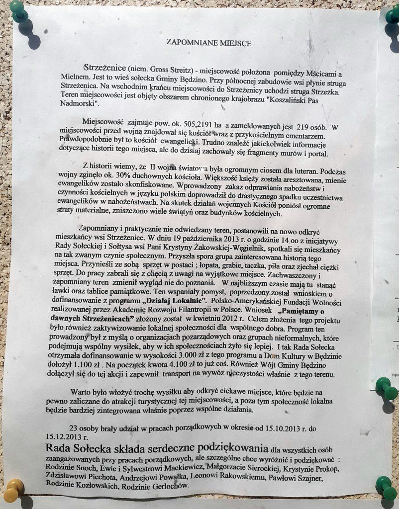 Informacje o inicjatywie mieszkańców Strzeżenic