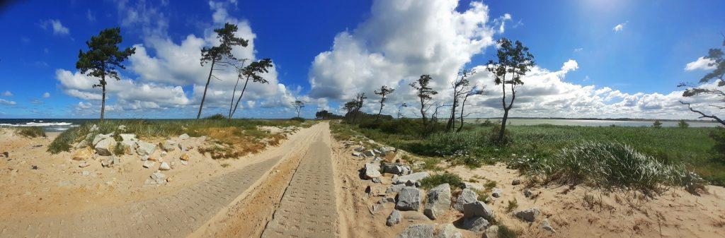 Mierzeja między Bałtykiem a jeziorem Kopań