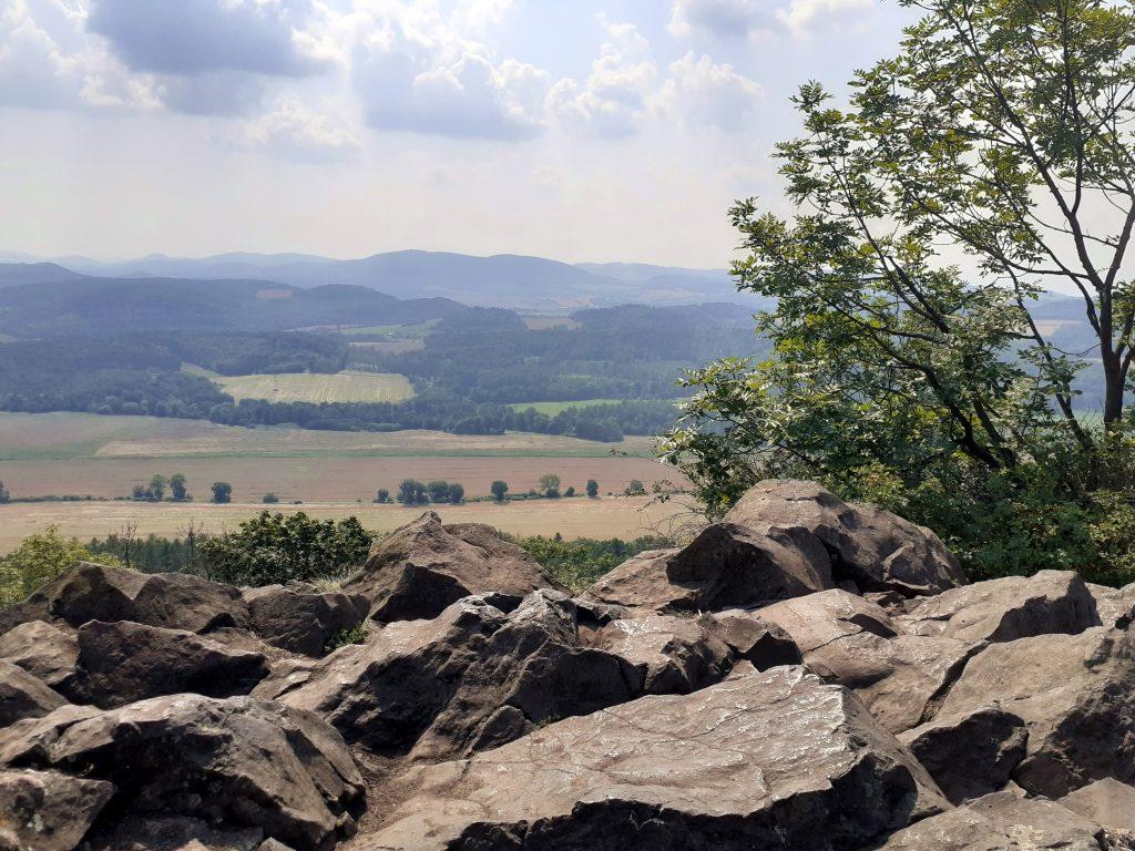 Widok ze szczytu Ostrzycy