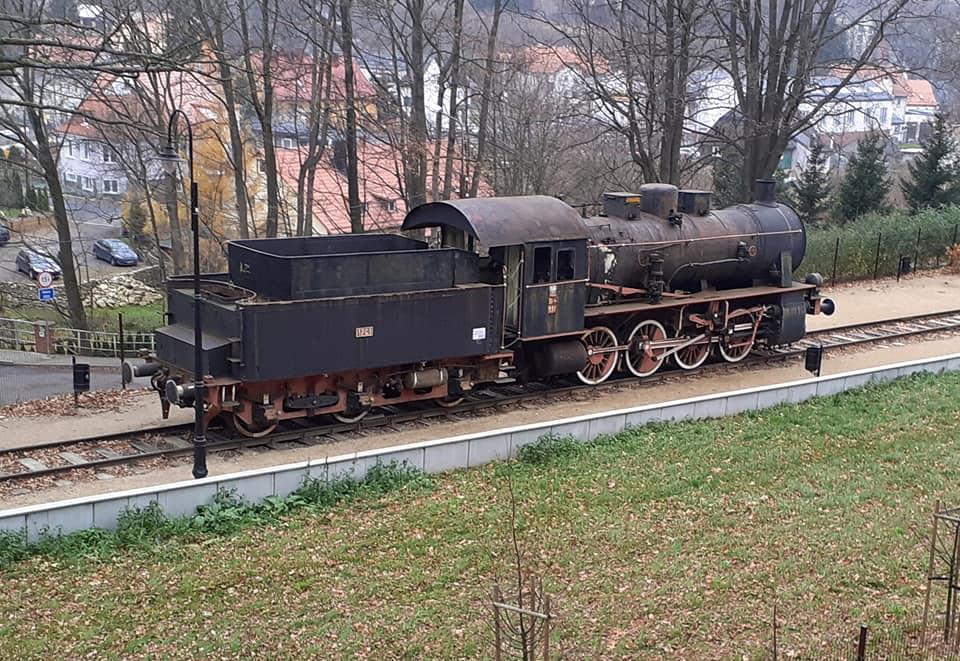 Parowóz Tp4 nr ew. 217 na stacji Świeradów Zdrój - 27.11.2020