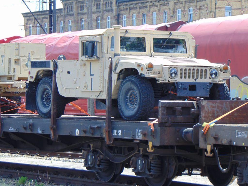 Transport armii USA na stacji Węgliniec