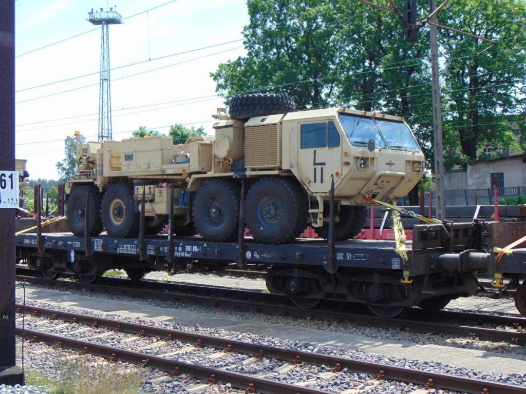 Wojskowy transport na stacji Węgliniec