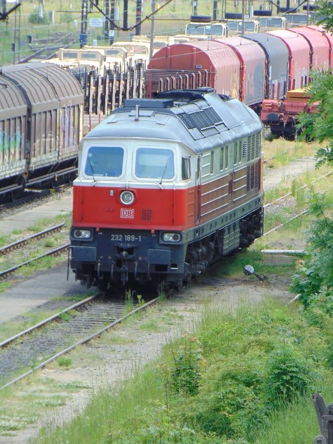 Lokomotywa spalinowa DB na stacji Węgliniec