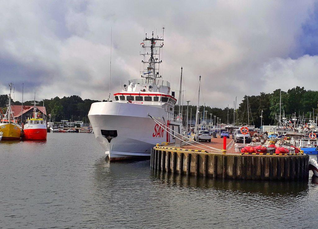 W Ustce działa stacja ratownictwa morskiego i stacjonuje statek ratowniczy