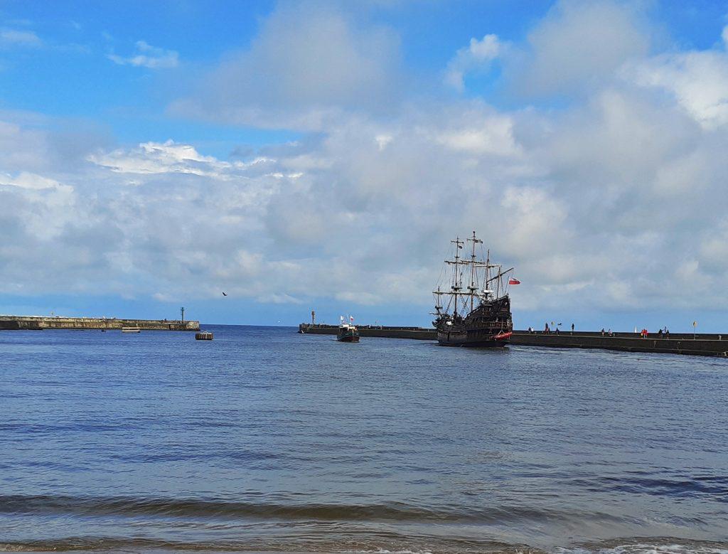 Wyjście z usteckiego portu