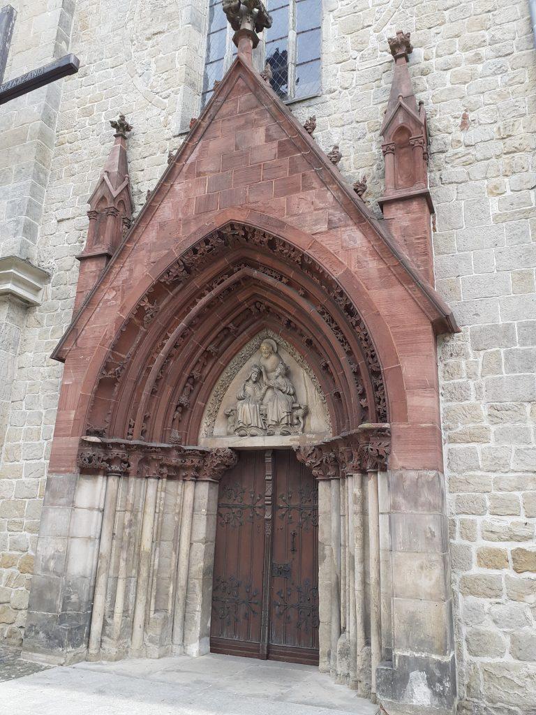 Portal kościoła Wniebowzięcia Najświętszej Maryi Panny